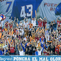 7 March 2009: Fans react during the 2009 World Baseball Classic Pool D match at Hiram Bithorn Stadium in San Juan, Puerto Rico. Puerto Rico wins 7-0 over Panama.