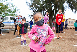 """Young children dance at a """"Safe Zone"""" in Vanwyk'svlei, Wellington, Western Cape, South Africa.(Picture: JULIAN GOLDSWAIN)"""