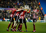 Billy Sharp of Sheffield Utd celebrates his goal during the FA Cup match at the Madejski Stadium, Reading. Picture date: 3rd March 2020. Picture credit should read: Simon Bellis/Sportimage