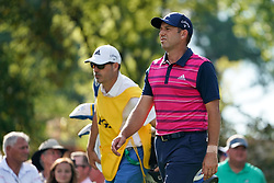 August 9, 2018 - St. Louis, Missouri, United States - Sergio Garcia (R) and his caddie Victor Garcia walk off the tee during the first round of the 100th PGA Championship at Bellerive Country Club. (Credit Image: © Debby Wong via ZUMA Wire)