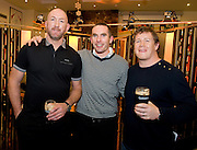 Killian Dooley Renmore with Trevor Brennan  and Paul Wallace  at the Guinness Area22 event in the Carlton Hotel Galway..
