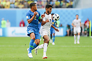 Thiago Silva of Brazil and Yeltsin Tejeda of Costa Rica during the 2018 FIFA World Cup Russia, Group E football match between Brazil and Costa Rica on June 22, 2018 at Saint Petersburg Stadium in Saint Petersburg, Russia - Photo Thiago Bernardes / FramePhoto / ProSportsImages / DPPI