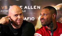 Dominic Ingle (left) and Kell Brook (right) during the press conference at Sheffield Town Hall.