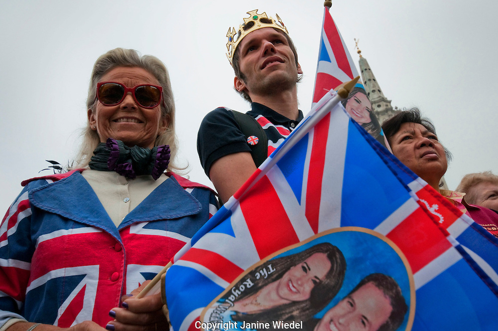 Celebrations in Soho for the Royal Wedding of William and Kate