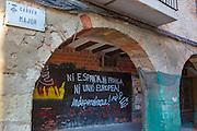 Pro-Catalan independence graffiti, Sant Cugat, Barcelona