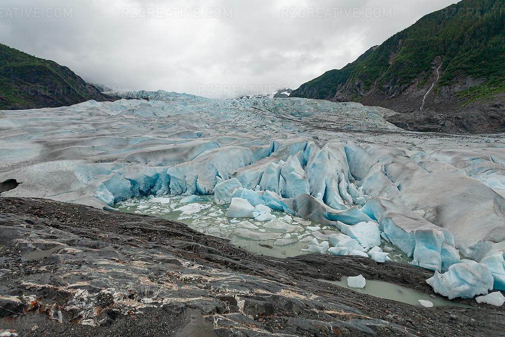 Mendenhall Lake and glacier near Juneau, Alaska. Photo © Robert Zaleski / rzcreative.com<br /> —<br /> To license this image contact: robert@rzcreative.com