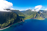 Wailau Valley, North Shore, Molokai, Hawaii