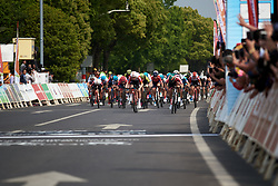 The final sprint at Tour of Chongming Island 2019 - Stage 1, a 102.7 km road race on Chongming Island, China on May 9, 2019. Photo by Sean Robinson/velofocus.com