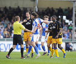 Bristol Rovers' John-Joe OToole is booked - Photo mandatory by-line: Joe Meredith/JMP - Mobile: 07966 386802 03/05/2014 - SPORT - FOOTBALL - Bristol - Memorial Stadium - Bristol Rovers v Mansfield - Sky Bet League Two