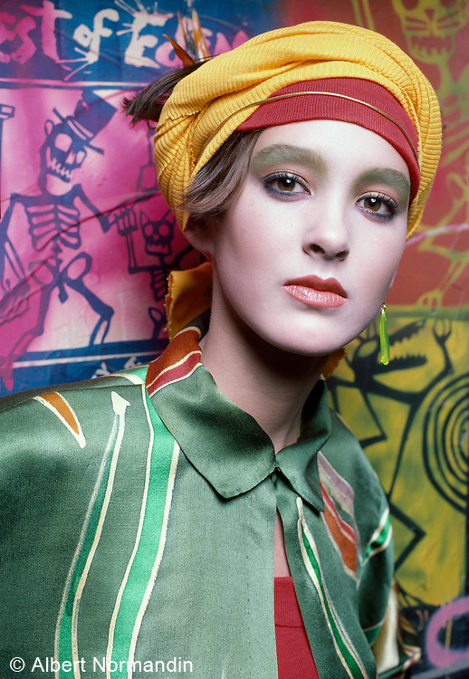 Hannah Mason, Fashion Show, Danceteria Nightclub, New York City, New York, USA, December 1984