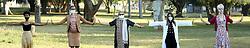 South Africa - Durban - 31 July 2020 - Coronavirus - Kirsty Ndawo Dancer / performer Member KickstArt Theatre Company, Pastor Thobi Zondi True Vine Family Church Active in KZNCC (KwaZulu Natal Christian Council) Covid-19 Relief programme, Ela Gandhi Peace Activist Founder: Gandhi Development Trust, Fatima Hosen Director: Eye Care, St John's South Africa, Illa Thompson Publicist Co-ordinator Denis Hurley Centre Street Lit book project.<br /> Picture: Shelley Kjonstad/African News Agency(ANA)