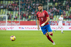 November 15, 2018 - Gdansk, Pomorze, Poland - Ondrej Celustka (3) during the international friendly soccer match between Poland and Czech Republic at Energa Stadium in Gdansk, Poland on 15 November 2018  (Credit Image: © Mateusz Wlodarczyk/NurPhoto via ZUMA Press)
