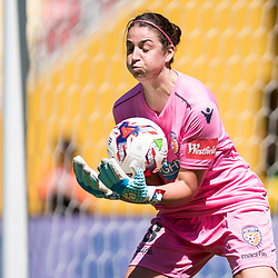 BRISBANE, AUSTRALIA - NOVEMBER 5: Melissa Maizels of the Glory in action during the round 2 Westfield W-League match between the Brisbane Roar and Perth Glory at Suncorp Stadium on November 5, 2017 in Brisbane, Australia. (Photo by Patrick Kearney / Brisbane Roar)