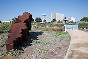 Decline Steel Sculpture at Newport Beach Civic Center Park