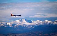 A Southwest jet makes its final approach to the Denver International Airport outside Denver, Colorado U.S. November 24, 2017.  REUTERS/Rick Wilking