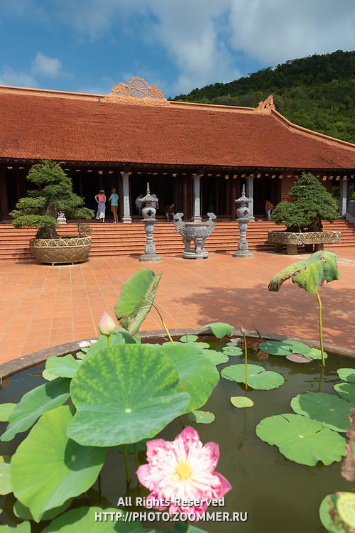 Lotus Flower in Ho Quoc Buddhist Temple, Phu Quoc, Vietnam