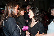 DEBBIE VON BISMARCK; JEMIMA KHAN; FATIMA BHUTTO, Henry Porter hosts a launch for Songs of Blood and Sword by Fatima Bhutto. The Artesian at the Langham London. Portland Place. 15 April 2010.  *** Local Caption *** -DO NOT ARCHIVE-© Copyright Photograph by Dafydd Jones. 248 Clapham Rd. London SW9 0PZ. Tel 0207 820 0771. www.dafjones.com.<br /> DEBBIE VON BISMARCK; JEMIMA KHAN; FATIMA BHUTTO, Henry Porter hosts a launch for Songs of Blood and Sword by Fatima Bhutto. The Artesian at the Langham London. Portland Place. 15 April 2010.