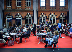 © Licensed to London News Pictures. 01/10/2012. Manchester, UK General views of delegates at the  Labour Party Conference Day 2 at Manchester Central. Photo credit : Stephen Simpson/LNP