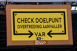 VAR Check during eredivisie round 02 between Ajax and RKC at Johan Cruyff Arena on September 20, 2020 in Amsterdam, Netherlands