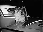 1957 - 27/02 Max Conrad, Co-Pilot of 'Piper Apache' which arrived in Dublin