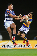 Auckland player Salesi Rayasi gets up for the ball against Bay of Plentys Mathew Skipwith-Garland during the Mitre 10 Cup match played at Rotorua International Stadium in Rotorua on Friday 2nd October 2020.<br /> Copyright photo: Alan Gibson / www.photosport.nz