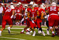 NORMAL, IL - September 21: Brady Davis during a college football game between the ISU (Illinois State University) Redbirds and the Northern Arizona University (NAU) Lumberjacks on September 21 2019 at Hancock Stadium in Normal, IL. (Photo by Alan Look)