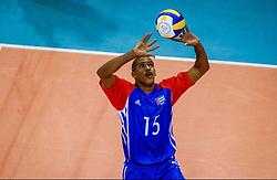 01-10-2002 ARG: World Championships Netherlands - Cuba, Salta<br /> Gonzalez P. Javier<br /> Nederland - Cuba 3-1<br /> WORLD CHAMPIONSHIP VOLLEYBALL 2002 ARGENTINA<br /> SALTA / 01-10-2002
