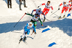 March 16, 2019 - Falun, SWEDEN - 190316  Martin Bergström of Sweden in the Men's cross-country skiing sprint final during the FIS Cross-Country World Cup on march 16, 2019 in Falun  (Credit Image: © Daniel Eriksson/Bildbyran via ZUMA Press)
