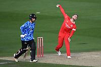 Cricket - 2020 T20 Vitality Blast - Quarter-final - Sussex Sharks vs Lancashire Lightning - County Ground, Hove<br /> <br /> Liam Livingstone of Lancashire Lightning bowls.<br /> <br /> COLORSPORT/ASHLEY WESTERN