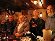 'Front Bench',  including  Colin Dexter ( wrote the Morse books) and David Kirke Dewdrop, Summertown North Oxford, 22 May 2003. © Copyright Photograph by Dafydd Jones 66 Stockwell Park Rd. London SW9 0DA Tel 020 7733 0108 www.dafjones.com
