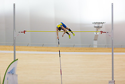 Robert Renner competes during day 2 of Slovenian Athletics Indoor Championships 2020, on February 23, 2020 in Novo mesto, Slovenia. Photo by Peter Kastelic / Sportida
