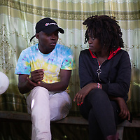 Bahati Kituli speaks with Lilian Mutheu in Mukuru Kwa Njenga, Nairobi. Both are mentors on sexual health and reproductive rights and both have been inspired and supported by their faith and church.