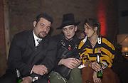 Paul emin, Boy george and tracey emin. Launch B.B.C. Four, Fashion St. London. © Copyright Photograph by Dafydd Jones 66 Stockwell Park Rd. London SW9 0DA Tel 020 7733 0108 www.dafjones.com