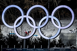 February 13, 2018 - Stockholm, Sweden - OS 2018 i Pyeongchang. Sprint, herrar. Johannes Höstflot Kläbo, längdskidÃ¥kare Norge, tävling action landslaget (Credit Image: © Orre Pontus/Aftonbladet/IBL via ZUMA Wire)