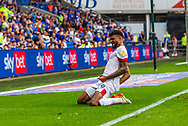 CELE Bournemouth midfielder Philip Billing  (29) celebrates scoring the opening goal during the EFL Sky Bet Championship match between Cardiff City and Bournemouth at the Cardiff City Stadium, Cardiff, Wales on 18 September 2021.