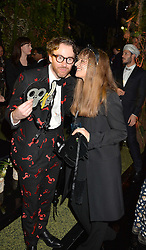 PHILIP COLBERT and his wife CHARLOTTE at The Animal Ball presented by Elephant Family held at Victoria House, Bloomsbury Square, London on 22nd November 2016.