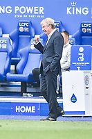 LEICESTER, ENGLAND - JULY 04: Crystal Palace manager Roy Hodgson during the Premier League match between Leicester City and Crystal Palace at The King Power Stadium on July 4, 2020 in Leicester, United Kingdom. Football Stadiums around Europe remain empty due to the Coronavirus Pandemic as Government social distancing laws prohibit fans inside venues resulting in all fixtures being played behind closed doors. (Photo by MB Media)