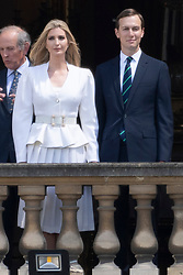 © Licensed to London News Pictures. 03/06/2019. London, UK. Ivanka Trump and husband Jared Kushner attend a ceremonial welcome at Buckingham Palace. The visit is on the first day of a three day state visit. Photo credit: Ray Tang/LNP