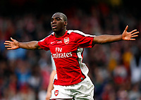 Fotball<br /> England<br /> Foto: Colorsport/Digitalsport<br /> NORWAY ONLY<br /> <br /> Gilles Sunu of Arsenal celebrates his goal. . FA Cup 1st Leg Arsenal Youth v Liverpool Youth at Emirates  22/05/2009