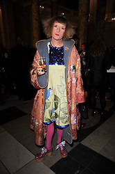 GRAYSON PERRY at the London College of Fashion Show held at the Victoria & Albert Museum, Cromwell Road, London on 28th January 2010.