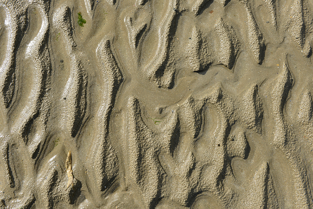 Detail of Utah Beach, one of the Allied landing beaches on D-Day, in Normandy, France