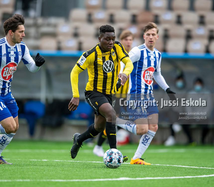 Jean Marie Dongou. HJK - Honka. Veikkausliiga 24.4.2021. Photo: Jussi Eskola