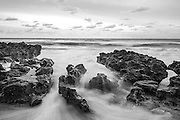 Iron shore and surf at sunrise along Jupiter Island, Palm Beach County, Jupiter, Florida Image available as a premium quality aluminum print ready to hang.