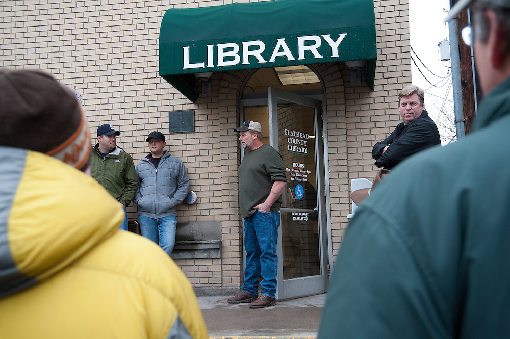 Anti Neo-Nazi Vision of the Flathead Valley Peaceful Demonstration at the Flathead County Library