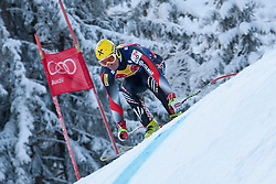 KITZBUHEL AUSTRIA. 22-01-2011. Ivica Kostelic (CRO) speeds down the course competing in the 71st Hahnenkamm downhill race part of  Audi FIS World Cup races in Kitzbuhel Austria.  Mandatory credit: Mitchell Gunn