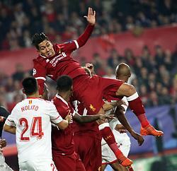 Roberto FIRMINO of Liverpool CF during the UEFA Champions League, Group E, Sevilla v Liverpool football match at Estadio Ramon Sanchez Pizjuan in Sevilla, Spain, November 21, 2017. Photo by Giuliano Bevilacqua/ABACAPRESS.COM