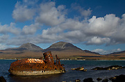 The wreck of trawler Wyre Majestic seen in 2011