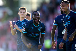 Abu Ogogo of Bristol Rovers celebrates beating Lincoln City - Mandatory by-line: Robbie Stephenson/JMP - 14/09/2019 - FOOTBALL - Sincil Bank Stadium - Lincoln, England - Lincoln City v Bristol Rovers - Sky Bet League One
