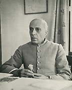 'Jawaharlal Nehru (1889-1964), Indian lawyer, politician and statesman: First Prime Minister of the newly independent India 1947-1964.'