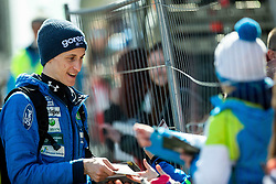 Peter Prevc (SLO) with fans during the Qualification Round of the Ski Flying Hill Individual Competition at Day 1 of FIS Ski Jumping World Cup Final 2019, on March 21, 2019 in Planica, Slovenia. Photo by Masa Kraljic / Sportida